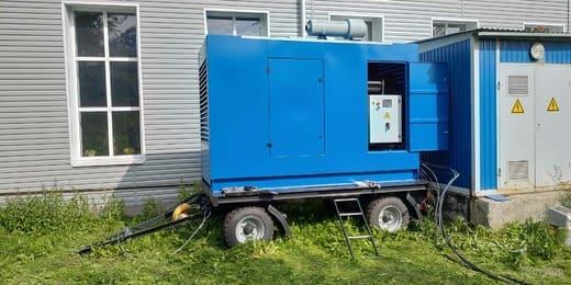 Дизельная электростанция на шасси для зданий